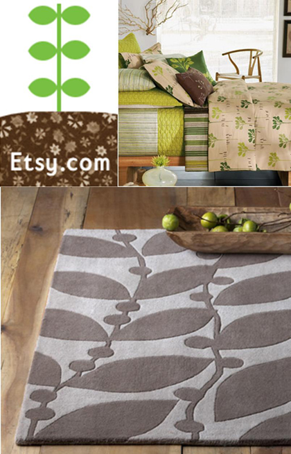 Esty ad from Decor8, bedding from Kohls and rug from WestElm.