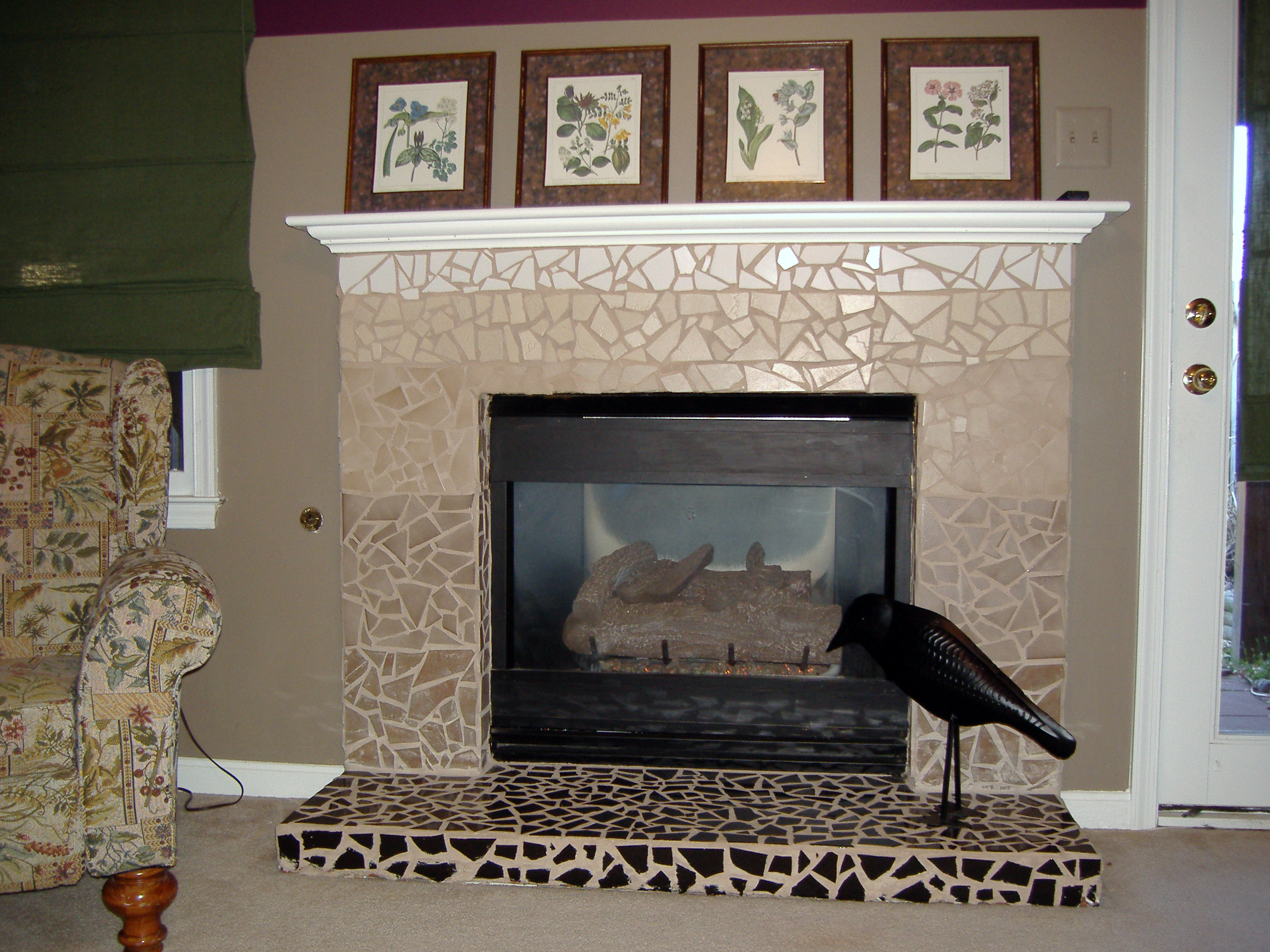 not a backsplash this fireplace was in my old townhouse it had been